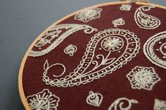 Hand Embroidery Pattern Set Seamless Surface 1 by SeptemberHouse, $5.00