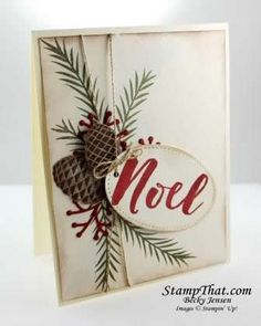 Stampin' Up! Christmas pretty Pines Noel Card