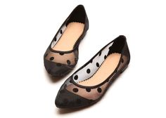 Cheap Wholesale Stylish Cute Gauze Polka Dot and Candy Color Design Women's Flat Shoes (BLACK,39) At Price 19.40 - DressLily.com