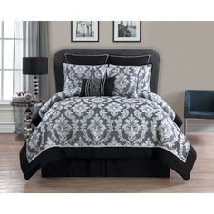 Walton 8 Piece Comforter Set by VCNY - REG-8CS-KING-OV-GV