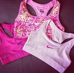 Nike pink Sports Bras