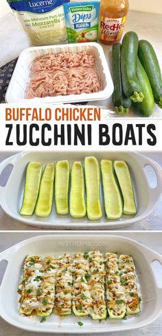Chicken And Veggie Recipes, Chicken Zucchini, Zucchini Boats, Quick Chicken Dinner Recipes, Healthy Dinner With Chicken, Low Carb Dinner Recipes, Zucchini Boat Recipes, Keto Dinner, Healthy Recipes