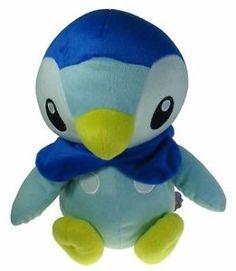 "Pocket Monster Pokemon Diamond Pearl Piplup 9"" Stuffed Toy Soft Plush Doll"