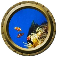 Clown Fish Family Porthole Vinyl Wall Decal by WilsonGraphics, $13.00