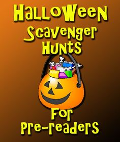 Halloween Scavenger Hunts for Pre-Readers