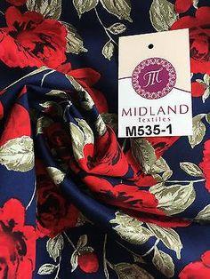 "Vintage floral shabby chic rose printed 100% Cotton Poplin fabric 58"" M535 Mtex - Midland Textiles & Fabric"