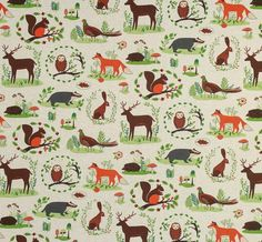 Folk Forest - Upholstery Fabric