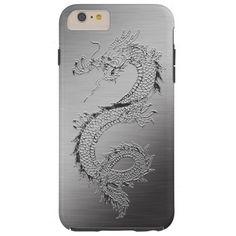 Vintage Dragon Brushed Metal Look Tough iPhone 6 Plus Case http://www.zazzle.com/vintage_dragon_brushed_metal_look_case-256045904908152119?rf=238675983783752015