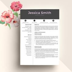 cool Creative CV Resume Template  CreativeWork247 - Fonts, Graphics, Themes...