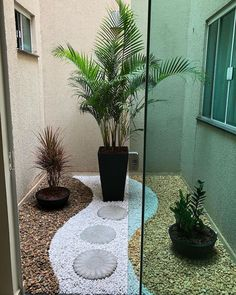 Atrium Garden, Indoor Courtyard, Small Balcony Design, Small Backyard Design, Front Yard Garden Design, Garden Landscape Design, Interior Garden, Home Interior Design, Interior Modern