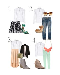 1 White Button Up, 4 Ways To Wear It - Broke But Bougie