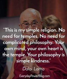 """Dalai Lama quotes on Everyday Power Blog! """"If you want others to be happy, practice compassion. If you want to be happy, practice compassion."""""""