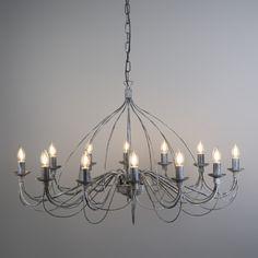 Candelabro ZERO BRANCO 12 gris envejecido  #clasica #iluminacion #decoracion