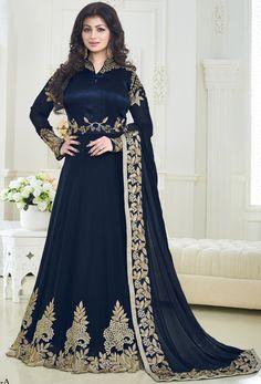 Salwar Suits Online - Buy Designer Salwar Kameez for Women with Upto Off - IndiaRush Long Anarkali, Anarkali Dress, Anarkali Suits, Pakistani Dresses, Indian Dresses, Indian Outfits, Simple Anarkali, Indian Anarkali, Punjabi Suits