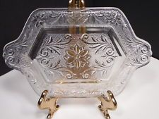 Vintage Elegant Tiara Indiana Clear Sandwich Glass Serving Tray Relish Dish