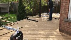 """Deck Building and Deck Repairs"" Mississauga handyman is making sure that all your deck boards are tight secure and not squeaking. Look us up at: Mississaugahandyman.com https://video.buffer.com/v/59256c0bdcab3c5b0a141c2c"