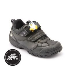 Arachnid - Black Leather - boys school shoes that are comfortable, durable and stylish