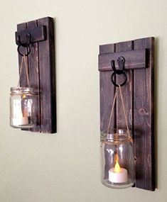 Rustic Wall Decor Wall Sconce Rustic Wall Sconce Candle Holder Rustic Wooden Candle Holder Black Set Of Two in Weathered Black Candle Wall Decor, Wooden Wall Decor, Candle Wall Sconces, Wooden Walls, Tall Wall Decor, Rustic Candle Holders, Wall Candle Holders, Rustic Wall Sconces, Rustic Walls