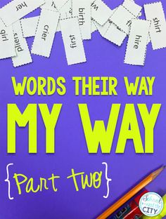 Words Their Way, MY Way: Part 2 -- How to organize and implement Words Their Way in your classroom. Blog post includes an organizational freebie and links to lots of versatile, supplemental word study games!