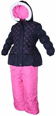 a1627f58adfe PINK PLATINUM Little Girls Toddler Floral Print Puffer Jacket   Snow ...