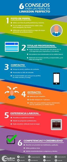 6 consejos para tener un perfil 10 en LinkedIn. #infografia #sm http://joseantonioantolin.com/6-consejos-para-tener-un-perfil-10-en-linkedin/