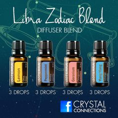 Libra zodiac blend - lemon, peppermint, geranium and ylang ylang
