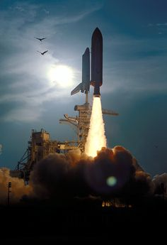 Shuttle Launch.  So beautiful and so missed.