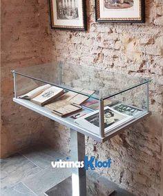 Vitrina expositora para museos