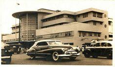 Jai alai Building, Taft Avenue, Manila. A 1949 Buick Convertible in the foreground.