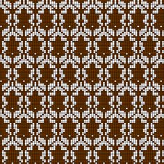 Knitting chart for the wallpaper on Sherlock. Do it in chocolate brown and a rich shade of cream. Living room blanket? Throw pillow?