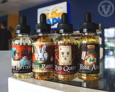 Take a journey down the rabbit hole with The Wonderland Collection! This is 1 of 4 premium e-juice brands currently priced at Over 20% Off retail at EVCigarettes!  Chubby Bubble Vapes, Munchies, and Spanked are also at a Limited Time Sale Price thru tonight only! Shop now to lock in a great price on these 60mL flavors:  RED QUEEN- A sour berry and sweet tangerine blended with the perfect snicker doodle sugar cookie  BLUE ALICE- A light Blueberry Kiwi Creamy Custard  THE HATTER- A completely…