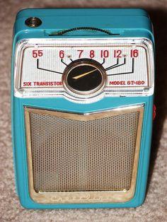 Vintage Crestlline 6-Transistor Radio, Made in Japan, Reverse Plastic, Model 6T-180, Dates to 1958 by France1978, via Flickr