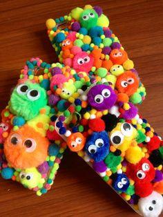googly eye pom pom phone cases LOVE LOVE LOVE