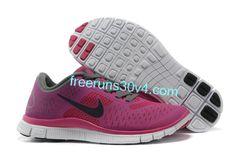 Womens Nike Free 4.0 V2 Fireberry Night Blue Cool Grey Shoes