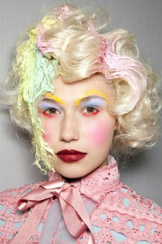 Meadham Kirchoff. Pastels. Make Up. Fantasy