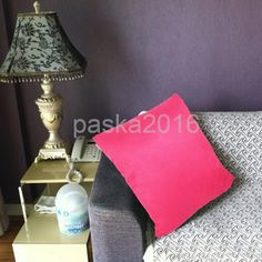Solid Color Suede Fabric Cushion Cover Throw Pillowcase Protector Rose Red