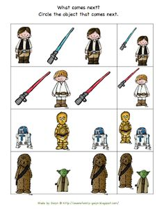 Preschool Printables: Star Wars