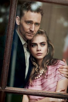 His handsome face was beautifully displayed in this Vogue shoot with Cara Delevingne.