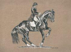 A4/ крафт бумага/гелвые ручки по фото Е. Штатновой  Автор: Лариса Андрианова #art #pen #drawing #horse #dressage #MisterX