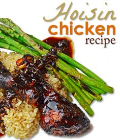 Hoisin Chicken Recipe.  So YUMMMY!!  We loved this recipe it really spiced up our boring chicken night!!