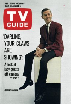 TV Guide July 30, 1966 - Johnny Carson of The Tonight Show
