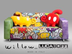 LUCA BOFFI sofa, custom by willow,2013 -www.willow-artblog.com -made in Italy- lucaboffi.com