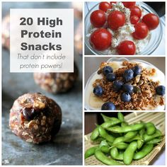20 High Protein Snack Ideas including a high protein guacamole recipe! High Protein Snacks, Veg Protein, High Protein Breakfast, Protein Pack, High Protein Recipes, Protein Foods, Breakfast For Kids, Healthy Snacks, Healthy Eating