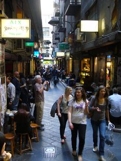 Reminds me of Amsterdam...Degraves St. Melbourne Australia