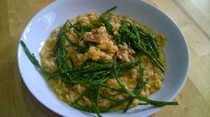 Recipe - crab & samphire risotto