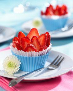 Morango copos cheesecake