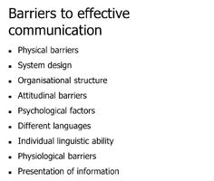barriers to effective communication in health and social care