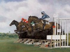 a one in three chance, erw lon, point to point horse racing art print by lisa miller