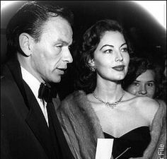 Ava Gardner and Frank Sinatra at the premiere of Pandora and the Flying Dutchman, 1951.