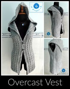 [Free Pattern] Chic And Stylish Overcast Crochet Vest For Fall And Winter Time